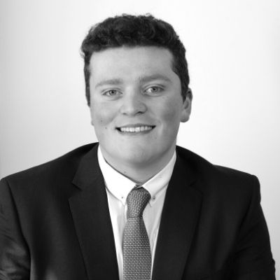 Black and white picture of Paralegal Harry Wilshaw