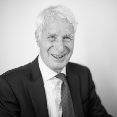 Black and white picture of Senior Legal Assistant Jon Heywood