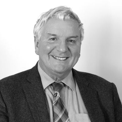 Black and white picture of Senior Partner Tony Osborn