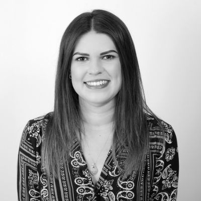 Black and white picture of Paralegal Zoe Neale
